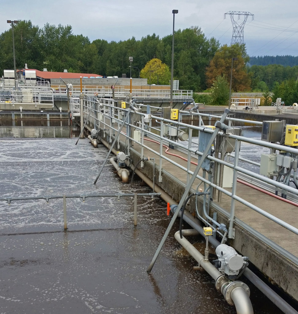 Camas Wastewater Aeration Basins